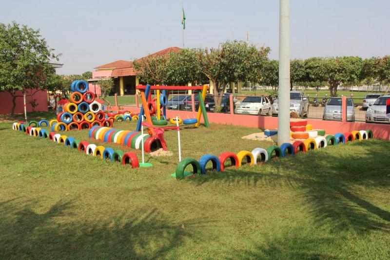 Populares Anjo Gabriel inaugura parque infantil de pneus - Prefeitura de  WB69